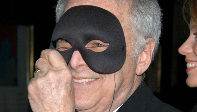 Chuck Barris joking around at a ball in 2006