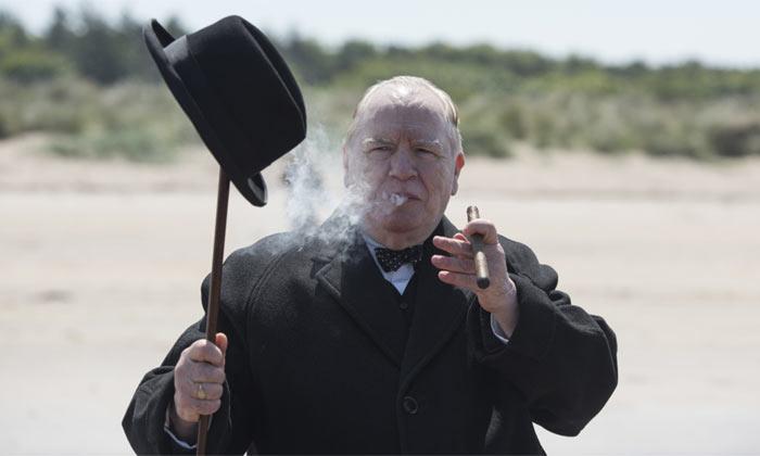 Actor Brian Cox as Winston Churchill