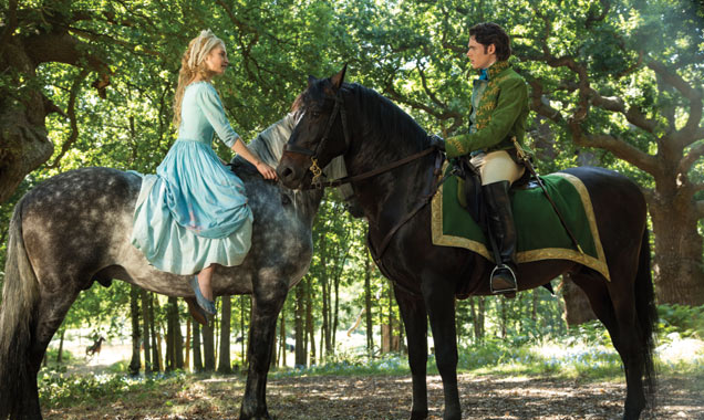 Lily James and Richard Madden in 'Cinderella'