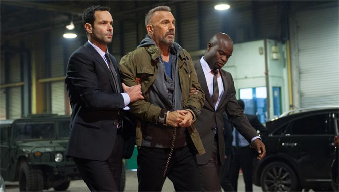 Kevin Costner plays a hardened criminal in the movie