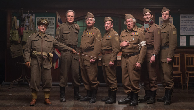 Lots of familiar faces appear in the new Dad's Army movie