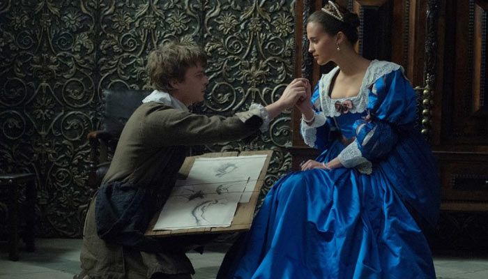 Alicia Vikander and Dane DeHaan in Tulip Fever