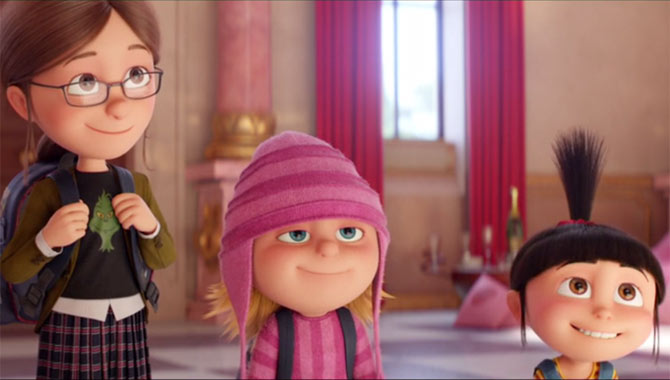 The girls return in Despicable Me 3