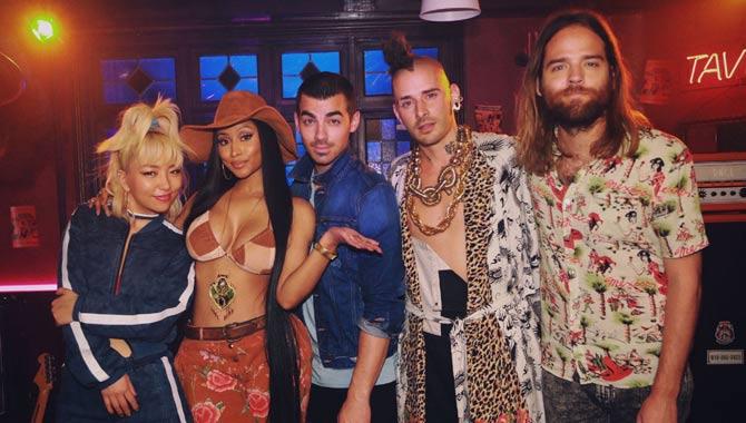 DNCE team up with Nicki Minaj for 'Kissing Strangers'
