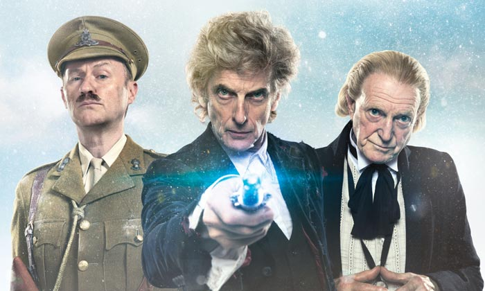 Mark Gatiss, Peter Capaldi and David Bradley star in 'Twice Upon A Time'