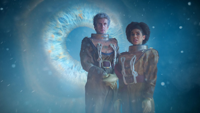 Peter Capaldi and Pearl Mackie in new Doctor Who episode 'Thin Ice'