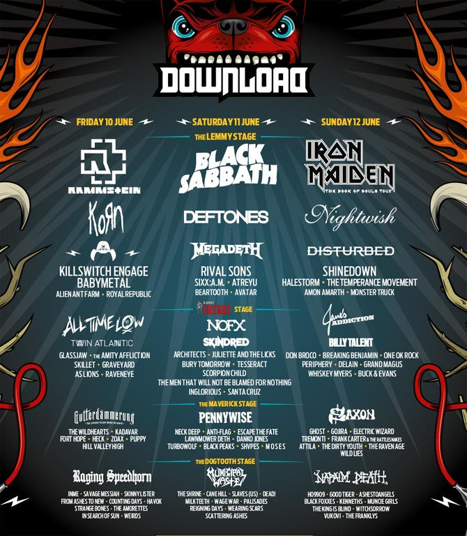 Download Festival 2016 Poster