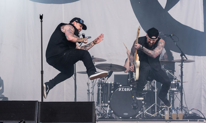 Good Charlotte performed on the Zippo Encore Stage