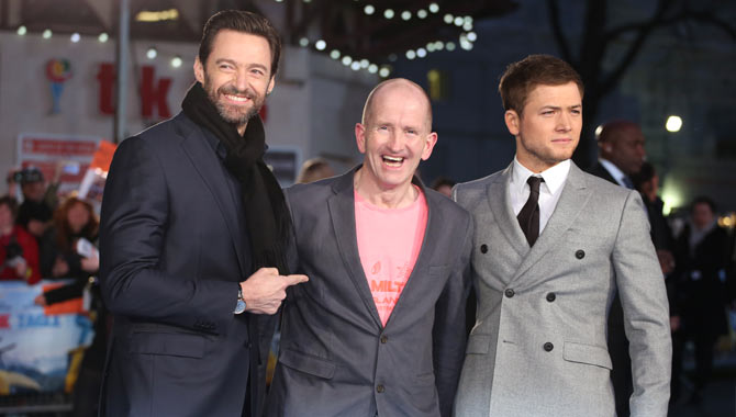 Hugh Jackman Joins Taron Egerton For UK 'Eddie The Eagle' Premiere - Photos