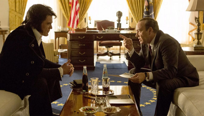 Michael Shannon And Kevin Spacey Bond As Elvis & Nixon