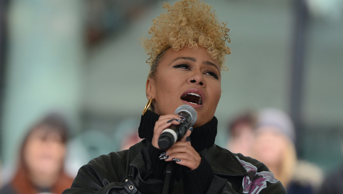 Emeli Sande at the March4Women Charity event