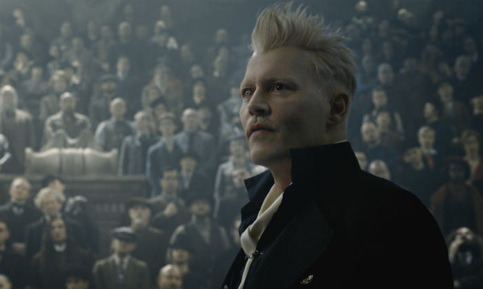 Johnny Depp returns as Gellert Grindelwald