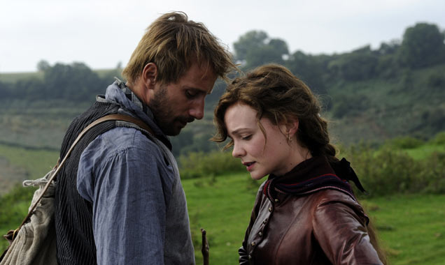 Matthias Schoenaerts and Carey Mulligan in 'Far From The Madding Crowd'