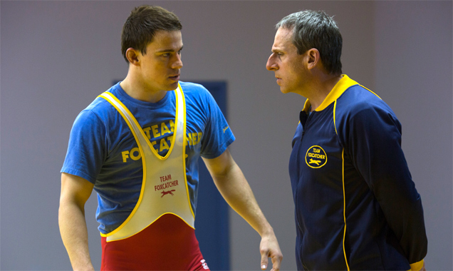 Channing Tatum and Steve Carell in 'Foxcatcher'v
