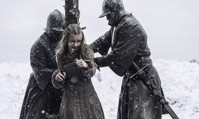 Kerry Ingram as Shireen Baratheon falls victim to the ninth episode