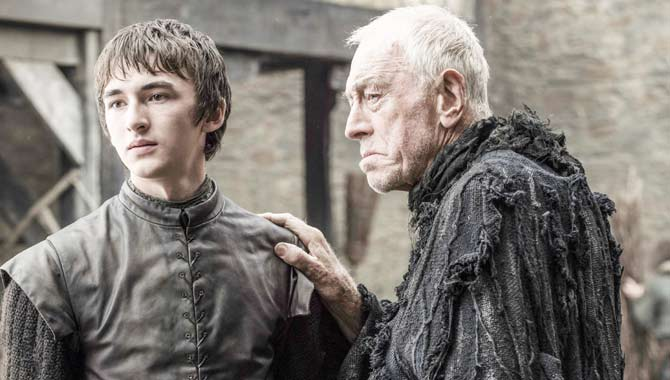 Isaac Hempsted-Wright and Max von Sydow in Game Of Thrones