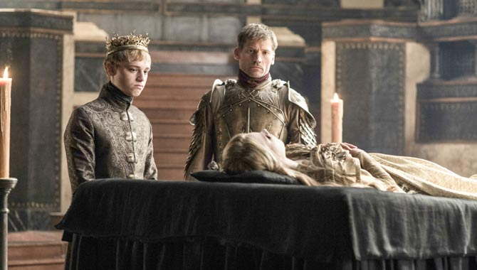Nell Tiger Free, Dean Charles Chapman and Nikolaj Coster Waldau in 'Game Of Thrones'