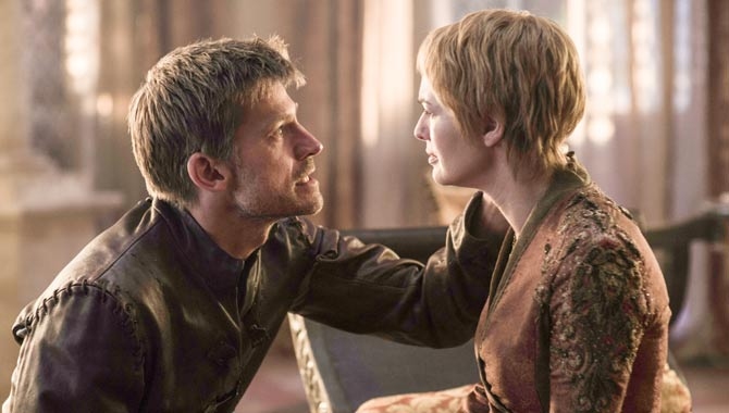 Nikolaj Coster Waldau and Lena Headey in Game Of Thrones