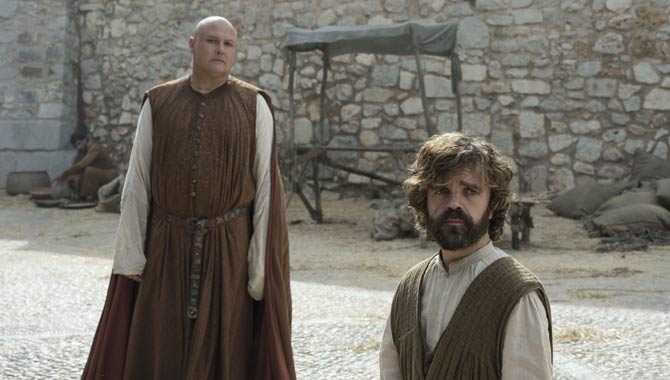 Conleth Hill and Peter Dinklage in Game Of Thrones