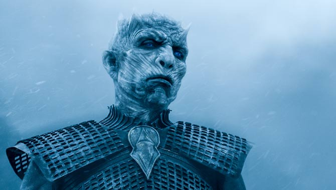 A White Walker in 'Game of Thrones'