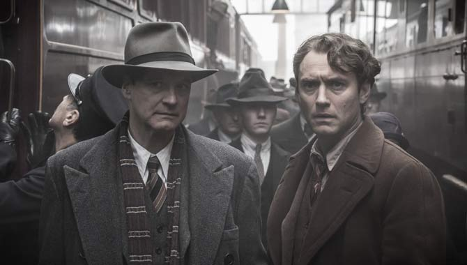 Colin Firth and Jude Law in Genius
