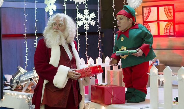 Jim Broadbent stars alongside Warick Davis in 'Get Santa'
