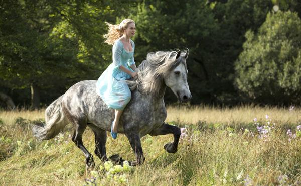 Cinderella, Girl on Gray Horse Image
