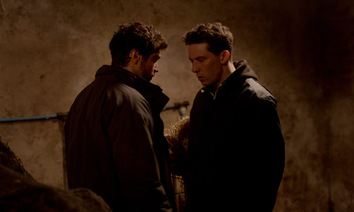 Josh O'Connor and Alec Secareanu in 'God's Own Country'