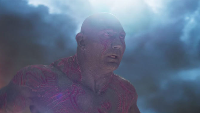 Dave Bautista returns as Drax in 'Guardians of the Galaxy Vol. 2'