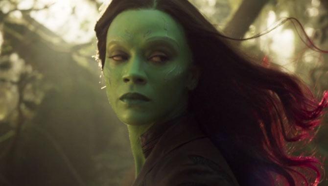 Zoe Saldana stars as Gamora
