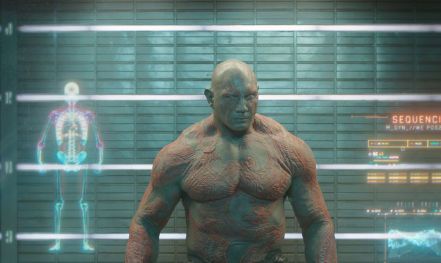 Dave Bautista plays Drax in 'Guardians of the Galaxy'