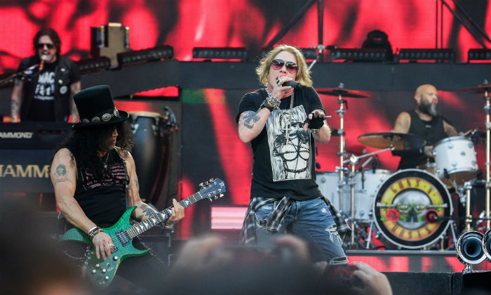 Guns 'N Roses in concert 2018 / Photo Credit: Moritz Thibaud/ABACA/PA Images