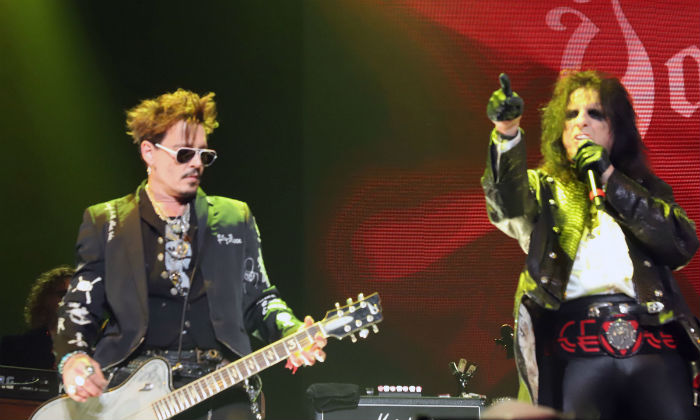 Johnny Depp and Alice Cooper perform with Hollywood Vampires 2019 / Photo Credit: AJM/EMPICS Entertainment/PA Images