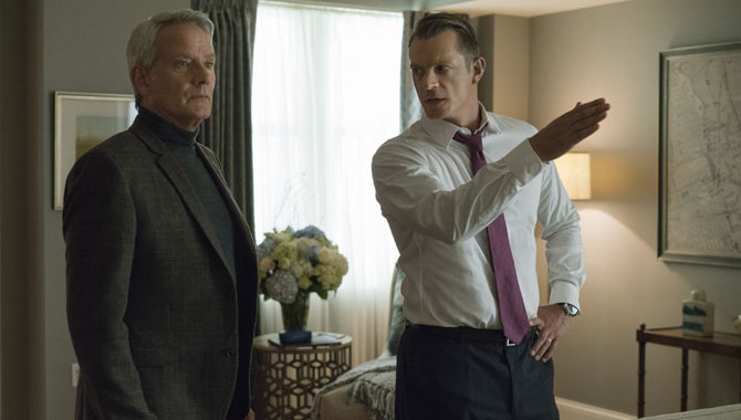 Joel Kinnaman (right) starred in the fifth season of 'House of Cards'