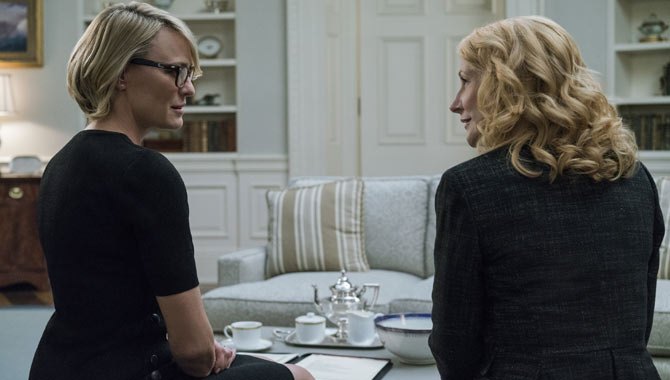 Robin Wright and Patricia Clarkson in the fifth season of 'House of Cards'