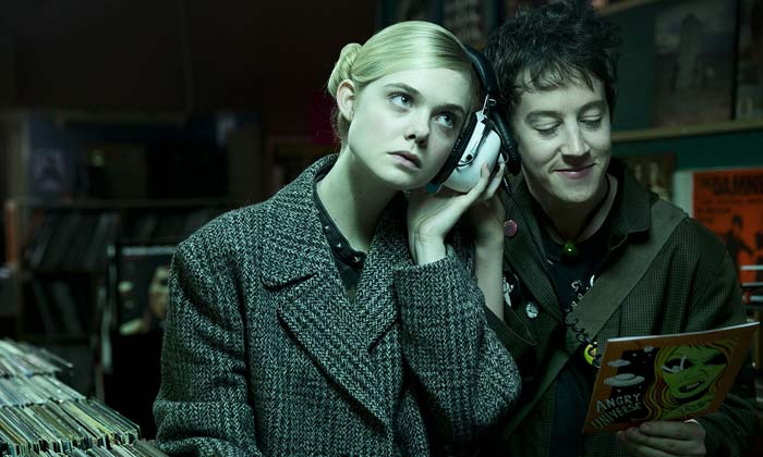 Alex Sharp and Elle Fanning in in 'How to Talk to Girls at Parties'