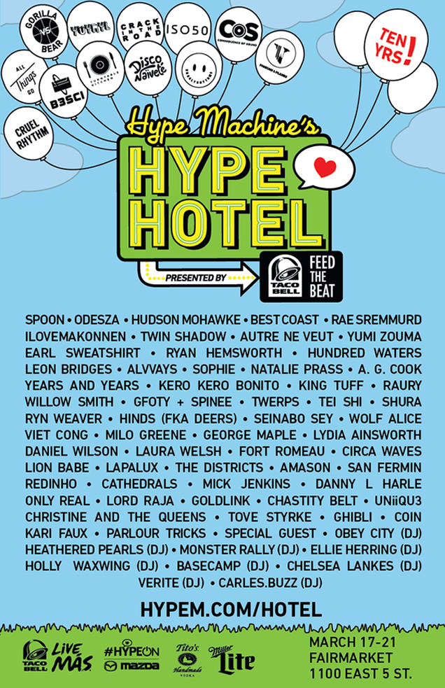 Hype Hotel 2015 poster