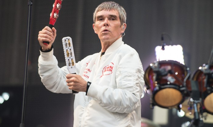 Ian Brown performing live with The Stone Roses in 2017 / Photo Credit: Stuart Westwood / Rmv/Zuma Press/PA Images