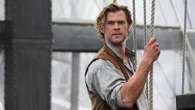 Chris Hemsworth plays the first mate on the ship