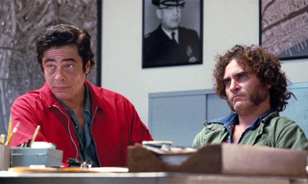 Benicio Del Toro and Joaquin Phoenix in 'Inherent Vice'