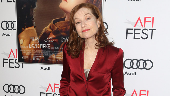 Isabelle Huppert at the premiere of Elle