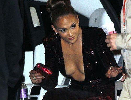 Jennifer Lopez at 2012 Vanity Fair Oscar Party