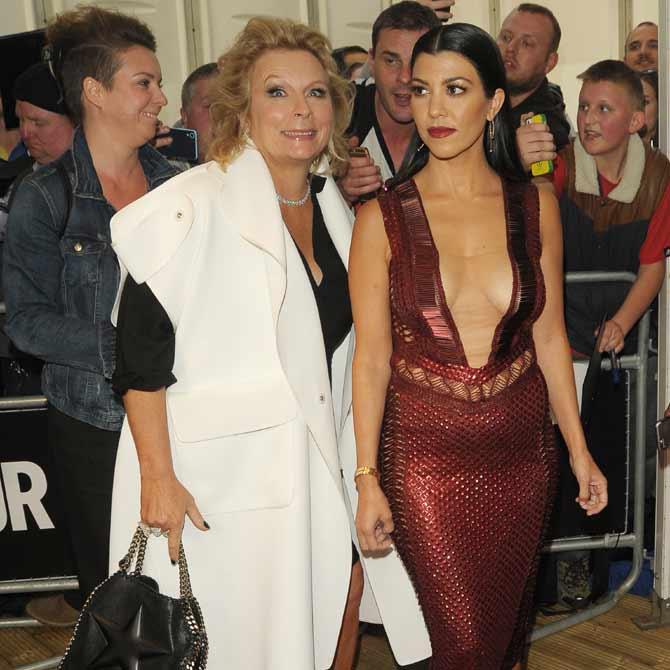 Jennifer Saunders and Kourtney Kardashian