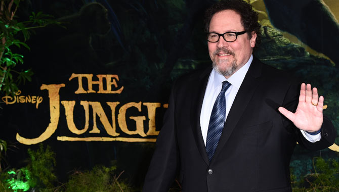 Favreau at the premiere of Jungle Book