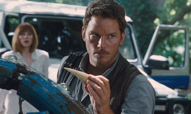 Chris Pratt in 'Jurassic World' still 1