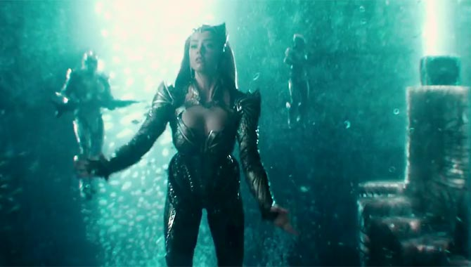 Amber Heard plays Mera