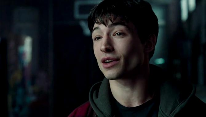 Ezra Miller as Barry Allen, aka The Flash in 'Justice League'