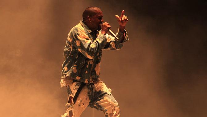 Kanye West onstage