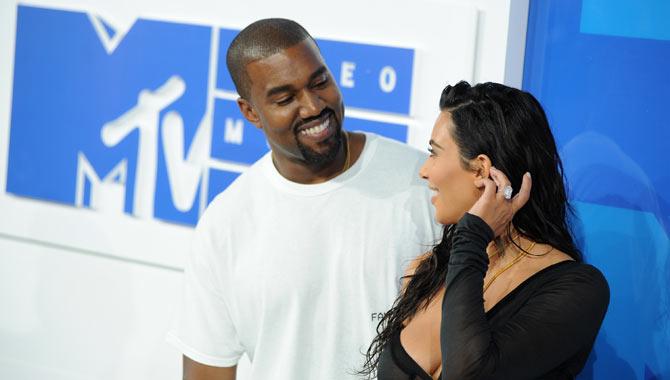 Kim and Kanye at the MTV Video Awards
