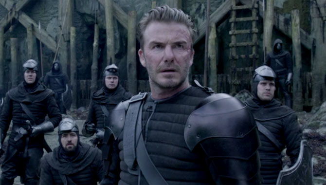 David Beckham Is Almost Unrecognisable As 'King Arthur' Baddie